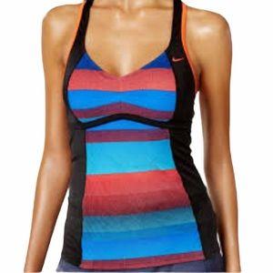 Nike Striped Racerback Tankini